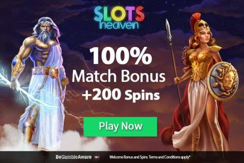 Slots Heaven Casino Match Bonus
